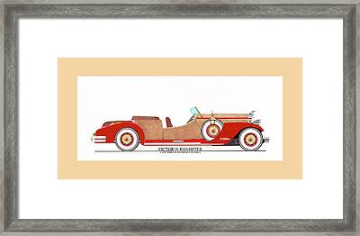 Ray Dietrich Packard Victoria Roadster Concept Design Framed Print by Jack Pumphrey