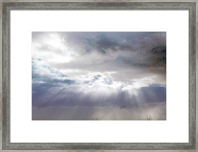 Ray From Heaven Framed Print by Rhonda Humphreys