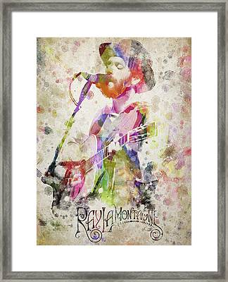 Ray Lamontagne Portrait Framed Print by Aged Pixel