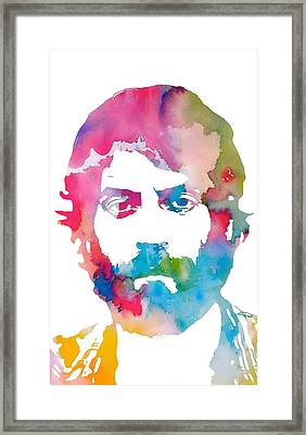 Ray Lamontagne Watercolor Framed Print by Dan Sproul