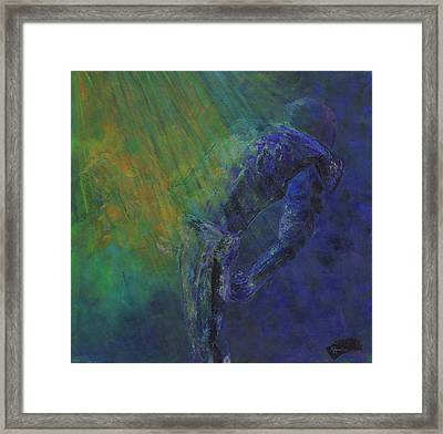 Ray Lewis Inspirationed Framed Print by Ash Hussein