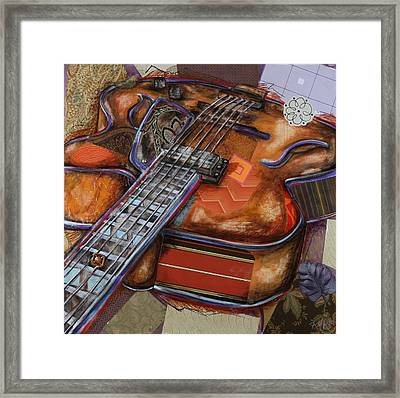 Ray The Guitar Framed Print