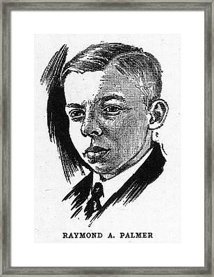 Raymond Arthur Palmer, American Author Framed Print by Mary Evans Picture Library