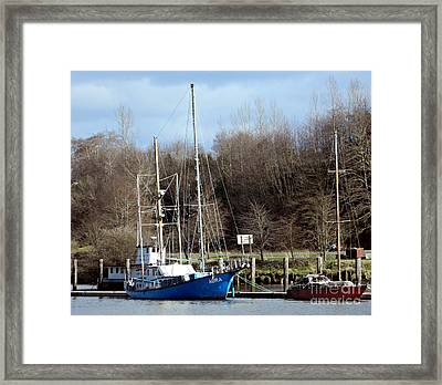 Raymond Fishing Boats Framed Print by Chalet Roome-Rigdon