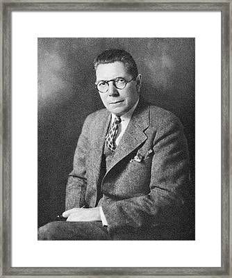 Raymond Pearl Framed Print by American Philosophical Society