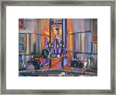 Raymond Vineyards Crystal Cellar II Framed Print by Donna Tuten