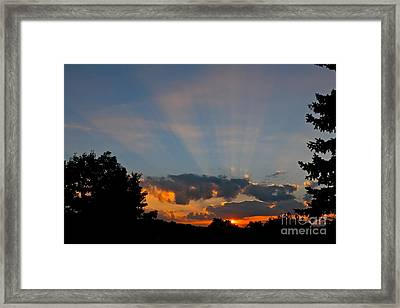 Rays And Shine Framed Print