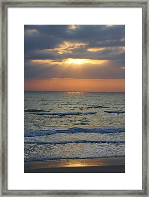 Rays From Above Framed Print by Bruce Bley