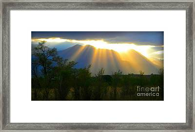 Rays From Heaven Framed Print by Michelle Frizzell-Thompson