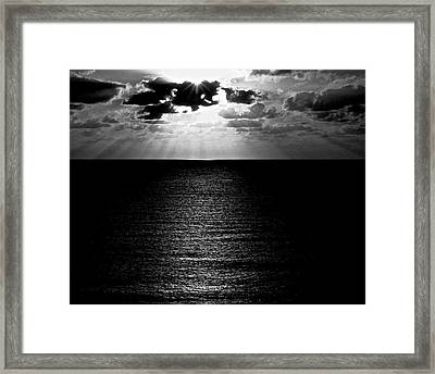 Rays In Black And White Framed Print by Heidi Horowitz
