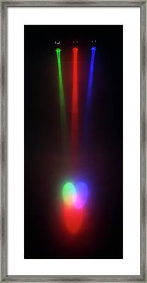 Rays Of Different Coloured Lights Framed Print