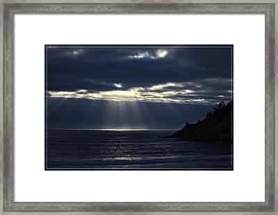 Rays Of Hope At Cape Kiwanda Oregon Framed Print