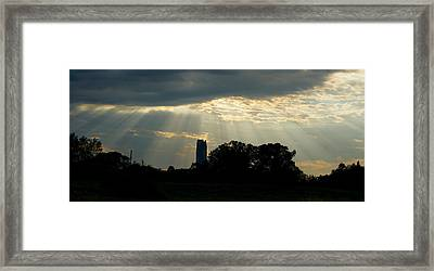 Framed Print featuring the photograph Rays Of Hope In Oklahoma by Roseann Errigo