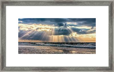 Rays Of Light Framed Print by Alex Hiemstra