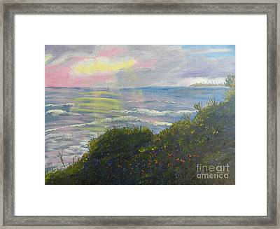 Rays Of Light At Burliegh Heads Framed Print by Pamela  Meredith