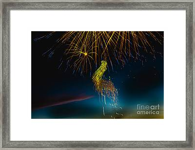 Rays Of Light From Above Framed Print by Robert Bales
