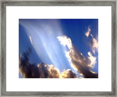 Rays Of Light Framed Print by Jose Lopez