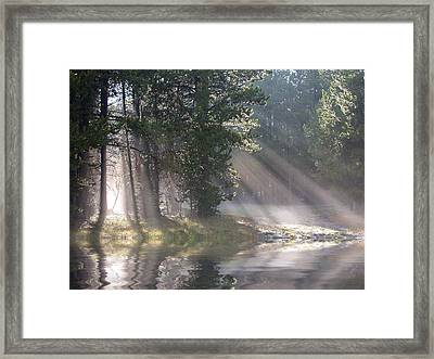 Rays Of Light Framed Print