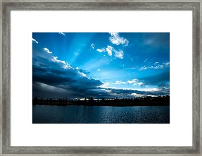 Rays Of Sunshine After The Storm Framed Print by Onyonet  Photo Studios