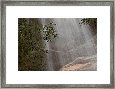 Rays Of Water Framed Print
