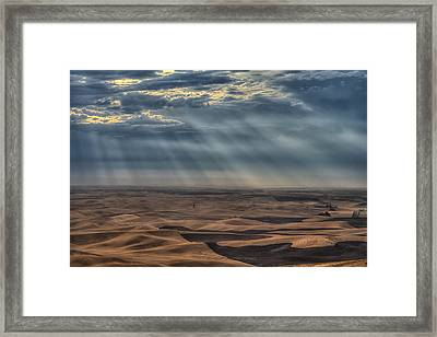 Rays On The Palouse Framed Print