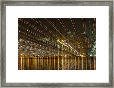 Rays Over The Bay Framed Print