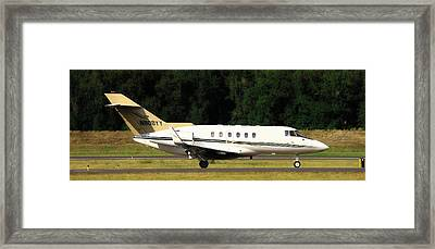 Airplanes Framed Print featuring the photograph Raytheon Hawker 800xp by Aaron Berg