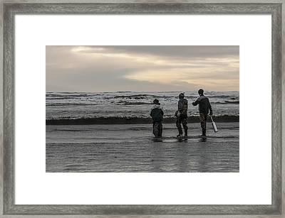 Razor Clam Tide Framed Print by Nichon Thorstrom