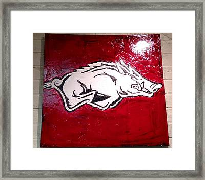 Razorback Painting Art Framed Print by Dawn Bearden