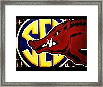 razorbacks SEC Framed Print