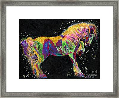 Razzle Dazzle Gypsy Cob Framed Print by Louise Green