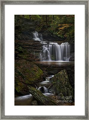 Framed Print featuring the photograph Rb Ricketts Falls by Roman Kurywczak