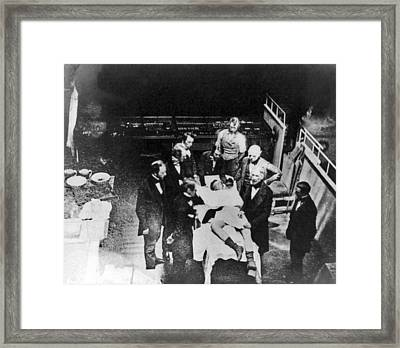Re-enactment Of First Anaesthesia, 1850 Framed Print