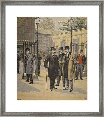 Re-entry To The Chambres Des Deputes Framed Print