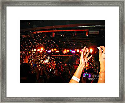 Reach For Confetti Framed Print by Amber Powers