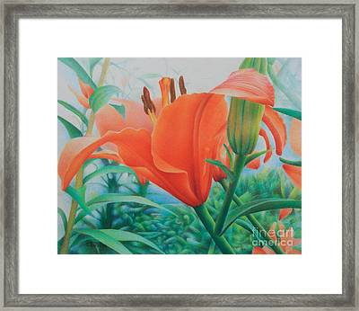 Framed Print featuring the painting Reach For The Skies by Pamela Clements