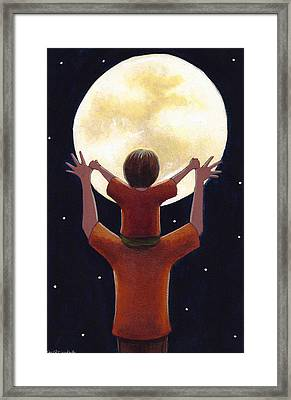 Reach The Moon Framed Print by Christy Beckwith