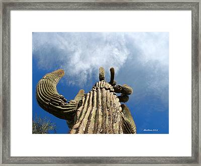 Framed Print featuring the photograph Reach The Sky by Dick Botkin