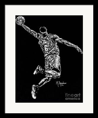 Miami Heat Drawings Framed Prints