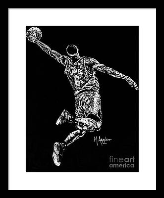 Hoops Drawings Framed Prints
