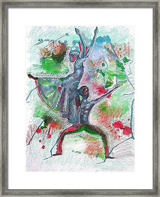 Reaching For New Heights Framed Print by Lamario Chez Jackson