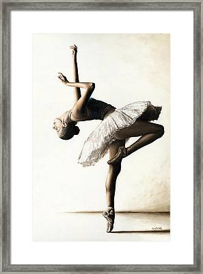 Reaching For Perfect Grace Framed Print by Richard Young