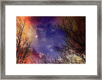 Reaching For The Moon 2 Framed Print by Susan Crossman Buscho