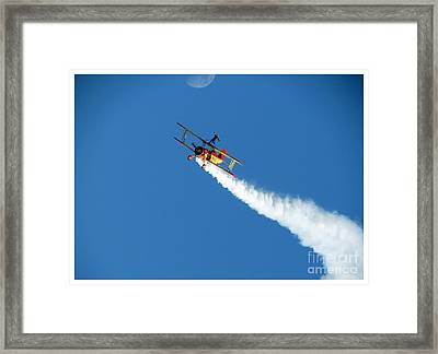 Reaching For The Moon. Oshkosh 2012. Postcard Border. Framed Print