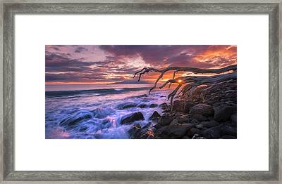 Framed Print featuring the photograph Reaching For The Pacific by Hawaii  Fine Art Photography