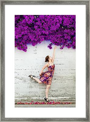 Reaching For The Summer Framed Print by Viacheslav Savitskiy