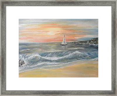 Reaching Horizon And Beyond... Framed Print by Corina Blejan Lupascu