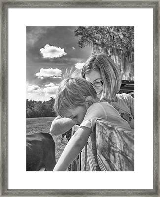 Framed Print featuring the photograph Reaching by Howard Salmon