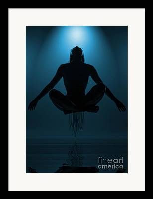 Floating Girl Framed Prints