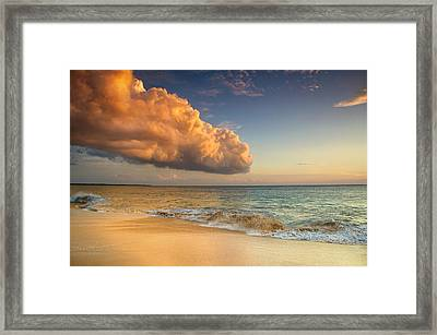 Reaching Out To The Ocean Framed Print by Kunal Mehra
